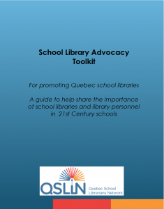 School Library Advocacy Tollkit PDF Cover